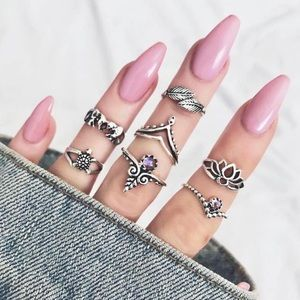 Jewelry - HAKAN Boho Midi Rings Set